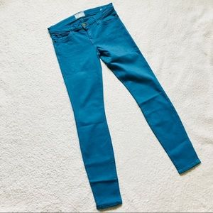 Current/Elliot The Ankle Skinny Blue Canteen Jeans
